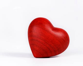 Miniature Red Heart Keepsake Urn- Handcrafted in Northern Italy