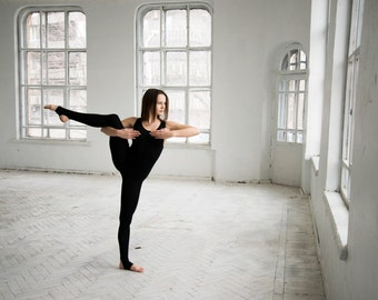 Black yoga catsuit, womens overall, Leotard, bodysuit women, yoga, yoga clothes, dancesuit, dance bodysuit, yoga catsuit, black catsuit