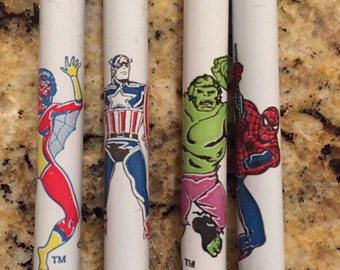 personalised gifts for dads superhero pens by six0six design