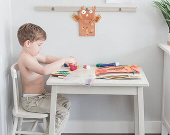 Kids Art Display - Art Display - Art Display Board - Playroom Decor - Kitchen Decor - Wood Wall Art - Rustic Home Decor - Rustic Decor - Art