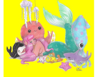 Plushies Mermaid Babe Prints