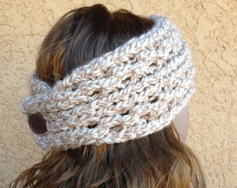 Lace Ribbed Ear Warmer - a loom knit pattern