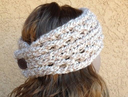 Lace Ribbed Ear Warmer A Loom Knit Pattern