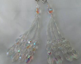 Crystal AB Beaded Nipple Tassels for Burlesque Pasties