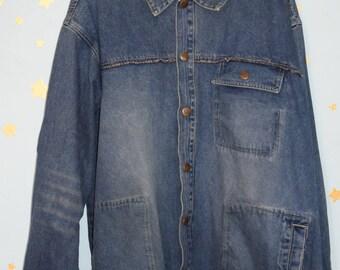 DISS vintage rare 90s denim workwear jacket hiphop
