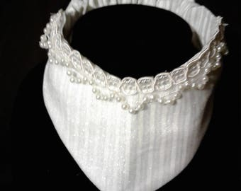White pearls on white
