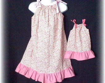 Boutique Pillowcase Dress PATTERN Child and 18 inch Doll Sizes and FREE Video Tutorial