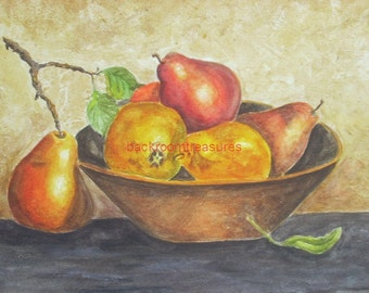 The Fruit bowl painting 8 x 10