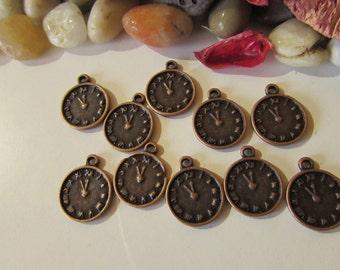 D-02282- 10 Pendant Clock copper color