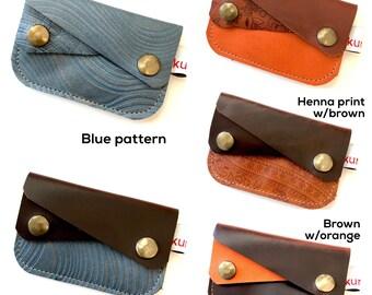 Double pocket scrap wallet