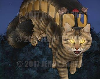 "Cat Bus 8.5""x11"" Print"