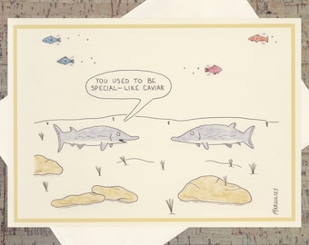 Funny Greeting Card, Humor Card, Funny Relationship Card, Funny Card, Ocean Card, Nautical, Funny All Occasion Card