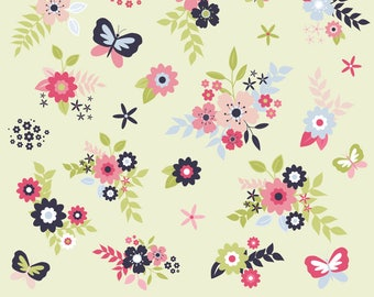Floral Clipart, Flower Clipart, Butterfly Clipart, Flowers, Flower Graphics, Printable, Commercial Use