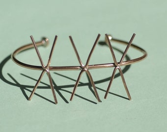 Copper Cuff Bracelet with 4 Prongs - Three Claws for Jewelry Making Supplies
