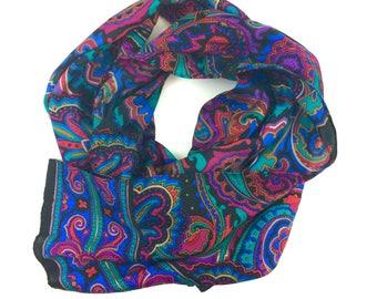 Vintage Paisley Multicolor Scarf