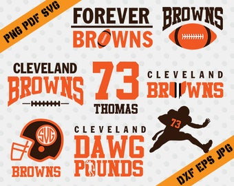 Cleveland Browns,Dawg pounds,73 thomas,football,team,cutting machines,T-shirt Design,Cleveland Browns Silhouette,TT-021