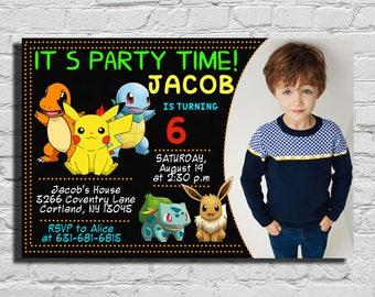 Pokemon Invitation, Pokemon Birthday Invitation, Pokemon Birthday Party, Pokemon Party Invitations, Pokemon Birthday,Pokemon Birthday Invite