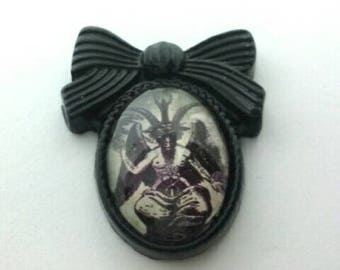 Bow Baphomet Pin Brooch