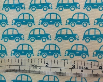 Cars sedans Kokka Trefle Japan medium weight cotton quilt fabric by the fat quarter (50cm x 55cm) more available