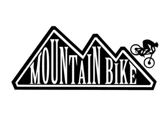 Mountain Bike - vinyl decal