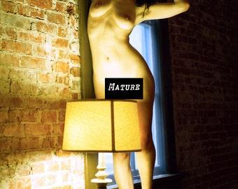 Nude art female woman natural light film fine art color photo print home decor MATURE wall art - Natural - Color 05