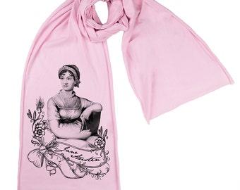 Jane Austen Screen printed Cotton Scarf