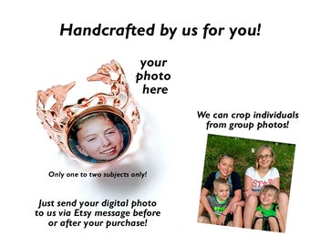 Picture Ring / Portrait Ring / Photo Ring / Custom Photo Ring / Rose Gold Adjustable / Expandable Ring / Photo Jewelry / Personalized Ring