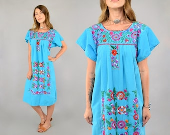 70's Embroidered Mexican Dress