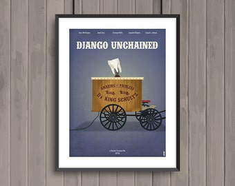 DJANGO UNCHAINED, minimalist movie poster