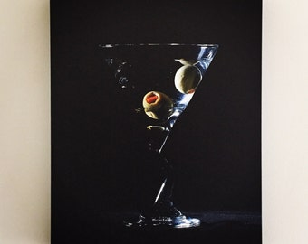 Martini canvas print