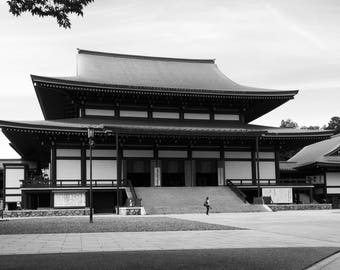 Naritasan Temple Black and White Photograph Print, Narita Japan, Asian, Japanese, Home Decor, Wall Art, Photography