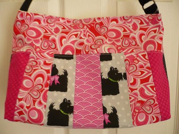 Pink Multi-color Purse Diaper Bag