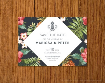 Santa Barbara | Printable Save the Date Template | Instant Download
