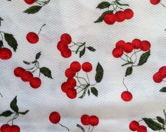 Vintage Cherry Design Fabric