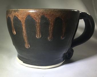Black and Brown Coffee Mug