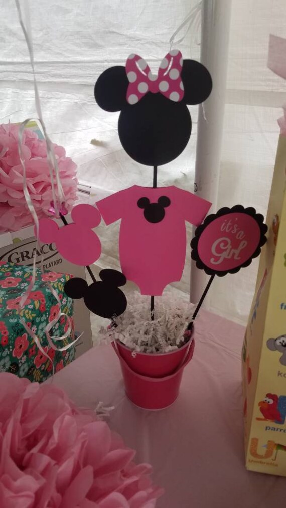 Doublesided Minnie Mouse Centerpieces For Baby Shower Or