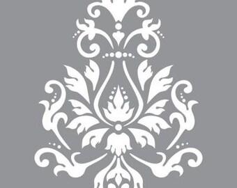 "12"" x 12"", Americana Decor-Stencils-Brocade Motif, Reusable Stencil"