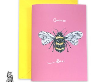 A5 Queen Bee Card