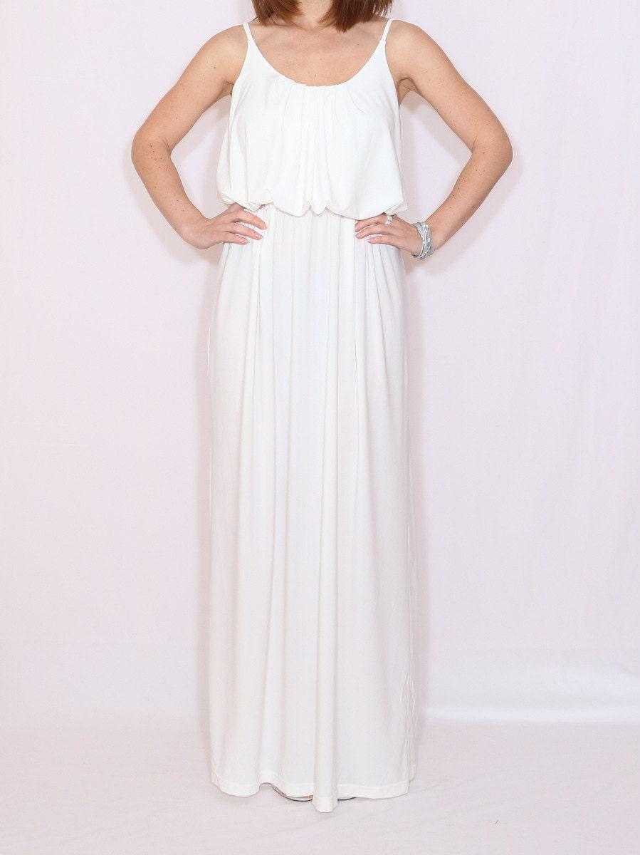 Maxi-Kleid lang weiß weiß Maxi Kleid weiße Hochzeitskleid