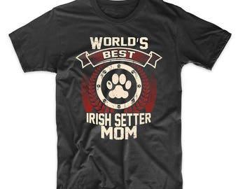 World's Best Irish Setter Mom Graphic T-Shirt
