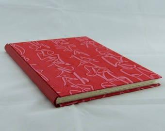 Diary coloring book sign book poetry album handmade paper unique red half paste paper