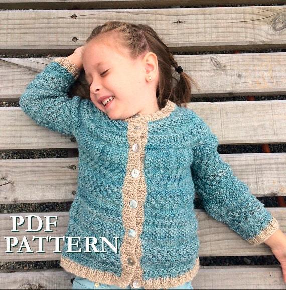 Toddler Girl Knitting Pattern Girl Cardigan Knitting Pattern Baby