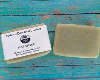 FREE SHIPPING - Pine Needle 5oz Homemade All-Natural Soap