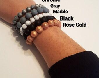 Silicone Teething Bracelet/Stackable bracelet/Teething bracelet/Mommy bracelet