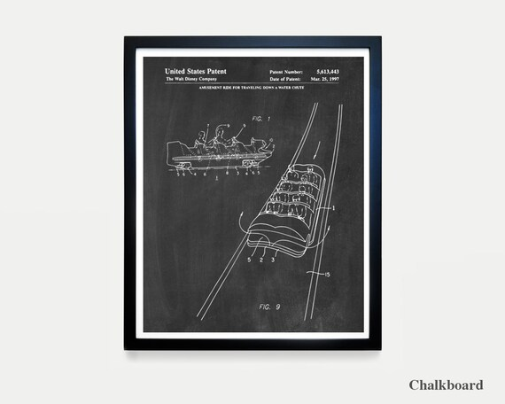 Disneyland Patent - Disneyland Patent Art - Splash Mountain Poster - Disneyland - Disney World Art - Walt Disney - Disneyland Poster