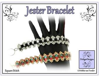 Tila Beading Pattern, Tutorial, Bracelet- JESTER