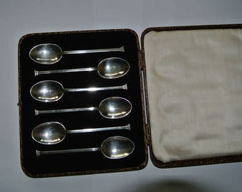 6 Hallmarked Silver spoons