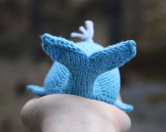 Whale toy knitting pattern, easy toy knitting pattern PDF download, cute DIY toy pattern