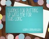 Anniversary / Love card -...