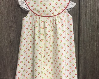 Size 24 months Red Cherry Print dress